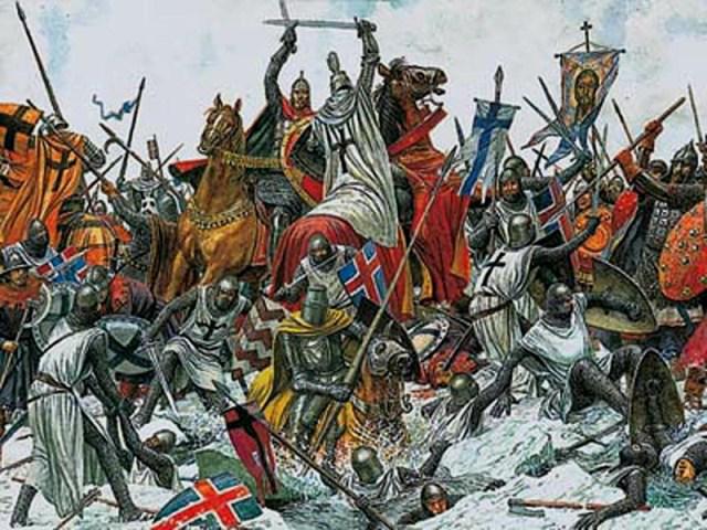 Невская битва в картинках